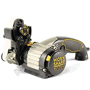 Work Sharp Knife & Tool Sharpener Ken Onion Edition - Precision Sharpening from 15° to 30°, Premium Flexible Abrasive Belts, Variable Speed Motor, & Multi-Positioning Sharpening Module