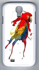 Creative Parrot Custom PC White Case for Samsung Galaxy S4 I9500