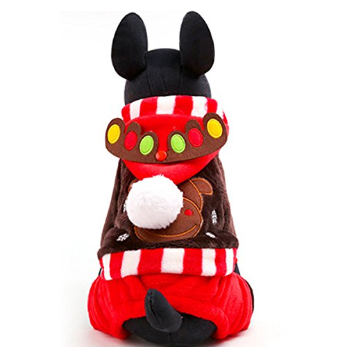 Laku Dog Christmas Suit Dog Winter Costume Pet Christmas Suit Pet Reindeer Hoodies