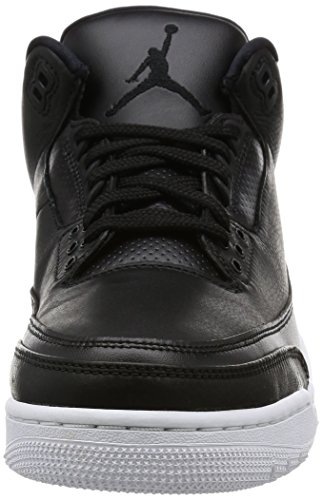 Nike Air Jordan 3 Retro Heren Hi Top Basketbalschoenen 136064 Sneakers Schoenen Zwart / Zwart / Wit