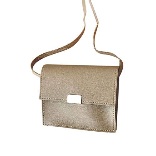 Handbag Square Cross Colour Shoulder Women Bag PU Handbag Yiwa Cute Khaki Kids Gift Single Candy Body Bag FwtqR8xP