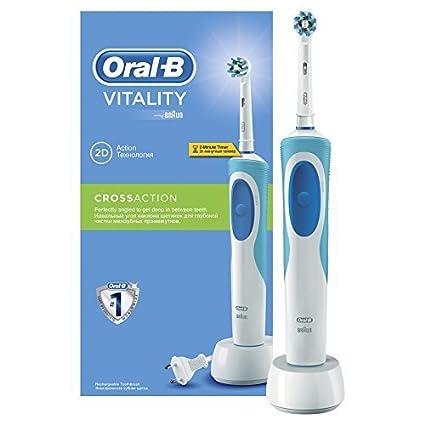 Oral-B Vitality Cross Action - Cepillo de dientes eléctrico recargable, con 7.600 oscilaciones
