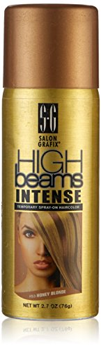 high beams Intense Temporary Spray on Hair Color, Honey Blonde, 2.7 Ounce