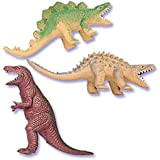 Oasis Supply Assorted Colors Cupcake/Cake Decorating Toppers, 4-Inch, Dinosaur, Set of 6