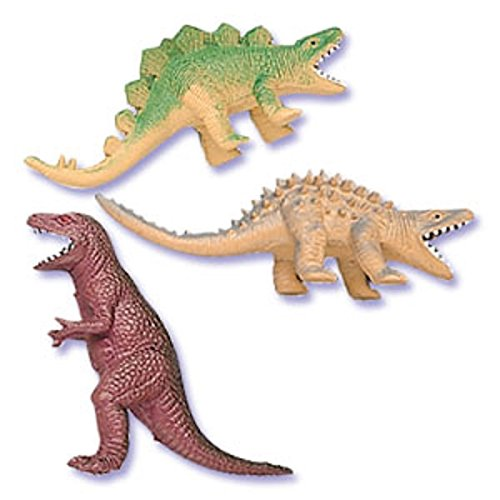 Dinosaur Cakes - Oasis Supply Assorted Colors Cupcake/Cake Decorating Toppers, 4-Inch, Dinosaur, Set of 6