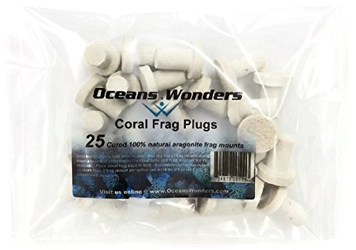 Oceans Wonders 25-Piece Coral Frag Plugs