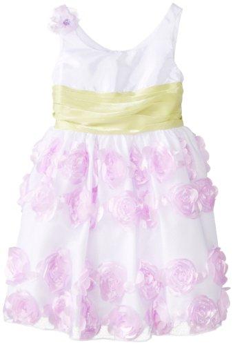 Bonnie Jean Little Girls' Satin Bodice To Bonaz Skirt, Lavender, 6 by Bonnie Jean