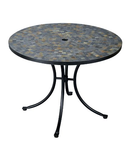Home Styles 5601-30 Stone Harbor Slate Tile Top Outdoor Dining Table