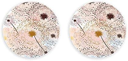 Diente de león Flores románticas Plantas abridor de botellas montado 2 piezas abridor de botellas imanes magnéticos para nevera