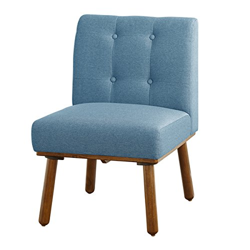 Simple Living Playmate Armless Accent Chair, Blue