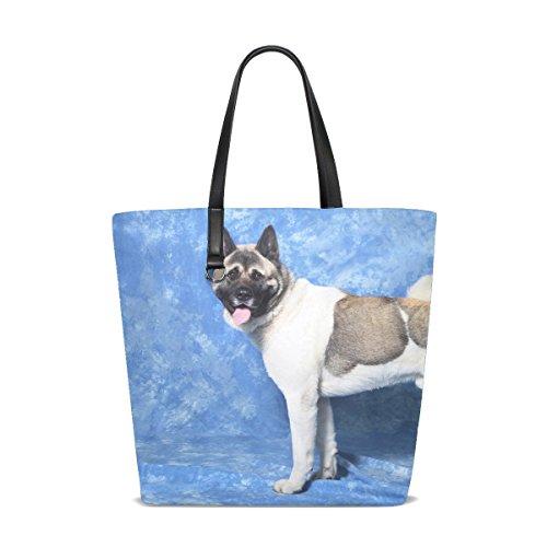 py Fluffy Yellow Blackandwhite Pet Animated Tote Bag Purse Handbag For Women Girls ()