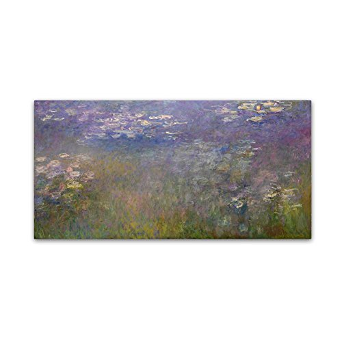 Water Lillies 2 by Monet, 24x47-Inch Canvas Wall Art