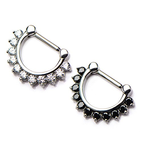 Surgical Steel Wildklass Septum Clickers With 11 Prong Set