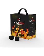 BLACKCOCO's - 4KG Carbón Natural de Coco Premium Cachimba y BBQ - Briquetas de Carbón de Coco de Alta Calidad Shisha y Barbacoas – Cubos de Carbón Barbacoa y Narguile con largo tiempo de combustión