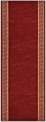 RugStylesOnline Custom Size Trellis Red Roll Runner 26 in Wide x Your Length Choice Slip Resistant Rubber Back Area Rugs and Runners