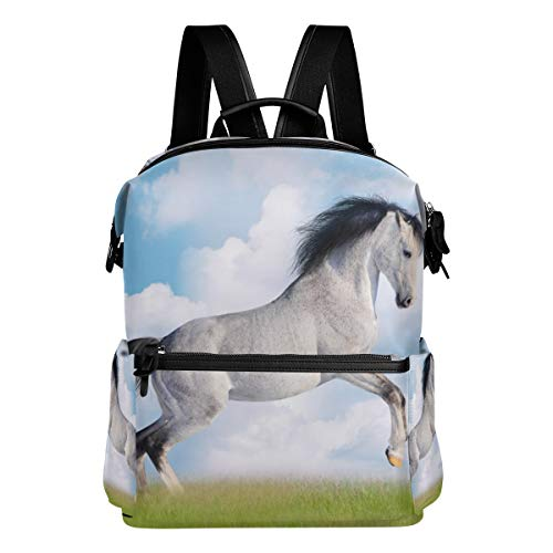 Backpack Majestic White Horse Mens Laptop Backpacks Hiking Bag School Daypack