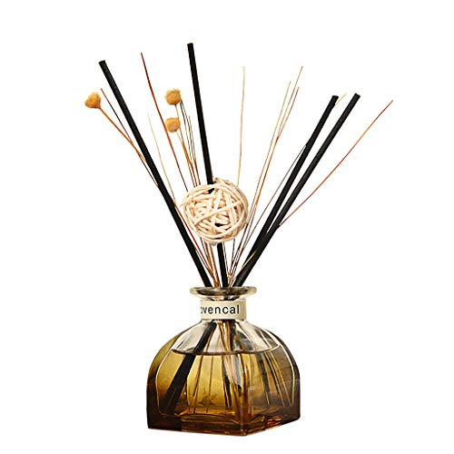 Orcbee  _Reed Oil Diffusers with Natural Sticks, Glass Bottle and Scented Oil 35ML (H)