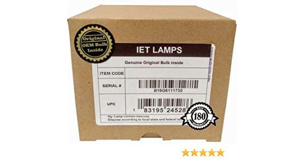 Power by Phoenix IET Lamps with 1 Year Warranty HD178 Genuine OEM Replacement Lamp for Knoll HD108 HD292 Projector HD290