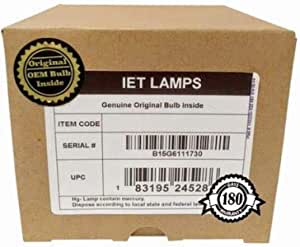 IET Lamps Philips Inside Genuine Original Replacement Bulb//lamp with OEM Housing for Christie LWU501i Projector