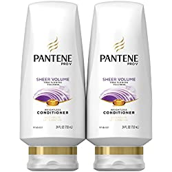 Pantene Pro-V Sheer Volume Conditioner, 24 Fluid Ounces (Pack of 2)