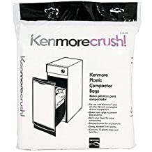 60ct Plastic Trash Compactor Bags for KENMORE, GE, FRIGIDAIRE, WHIRLPOOL, MAYTAG, and All Other 15-inch Rectangular Drawer Compactors - USA Made, Packed Bulk (15-inch)
