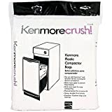 60ct Plastic Trash Compactor Bags for KENMORE, GE, FRIGIDAIRE, WHIRLPOOL, MAYTAG, and All Other 15-inch Rectangular...