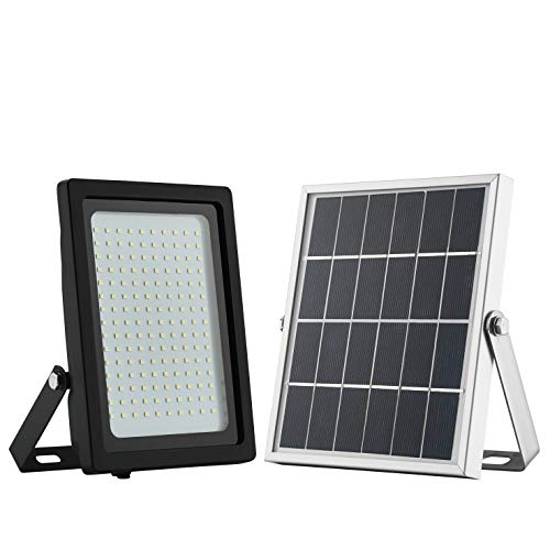 Solar Power Floodlight Waterproof 1050 Lumens 150 LED with Motion Sensor Auto On Off for Dusk to Dawn Flag Pole Pathway Patio Garden Shed Yard and Driveway by GEN Solar For Sale