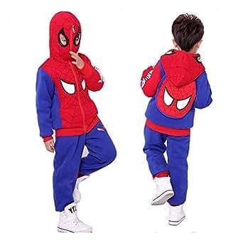 Amazon.com: 3 Pcs Boys Spider-Man Fleeces Winter Full Zip