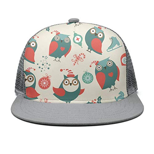 Green red Owls Seamless Classic caps Unisex -