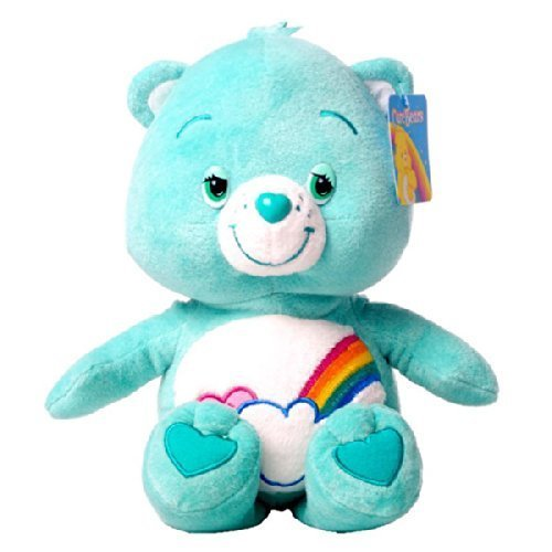Bashful heart bear Soft 11 (24/30cm) Care bears plush toy soft toy Peppermint green with Rainbow - Good quality - Serie4 by Care Bears (Peppermint Bear)