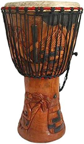 Prosperous Horns NOVICA Djembe Wood Drum Multicolor