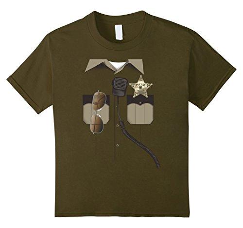 Glasses Aviator Police Child (Kids Halloween Sheriff Police Aviator Glasses Costume T-Shirt 12)