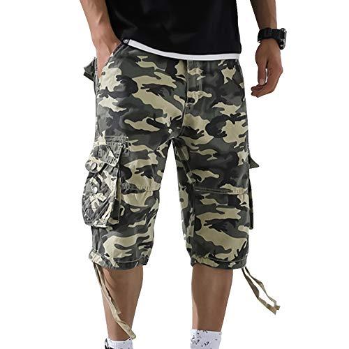 OEAK Shorts Cargo Homme Rétro Baggy Pantacourt Camouflage Outdoor Bermudas Casual Combat Pantalon Court Militaire Multi… 1