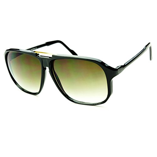 Retro Celebrity Style Flat Top Key Hole Aviator Sunglasses - Sunglass Celebrity
