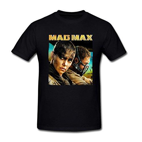 MoonArt Men's Imperator Furiosa & Max Rockatansky Mad Max classics stills T-Shirt Black