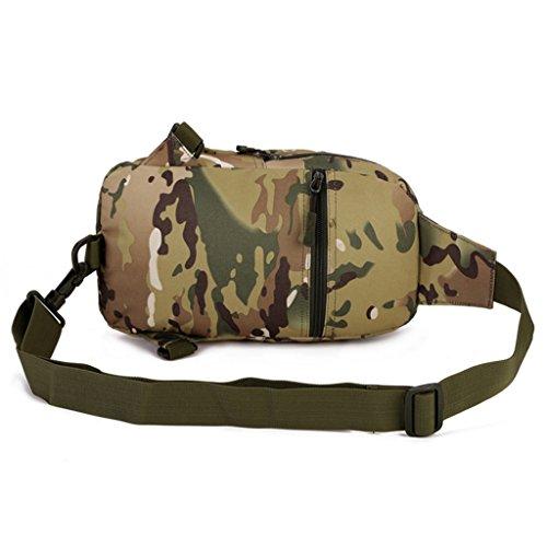 cinmaul táctica militar Mochila de hombro cintura bolsa de deporte Rover Sling Cuerda Senderismo Bolso de caza, hombre, Desert Camouflage CP Camouflage