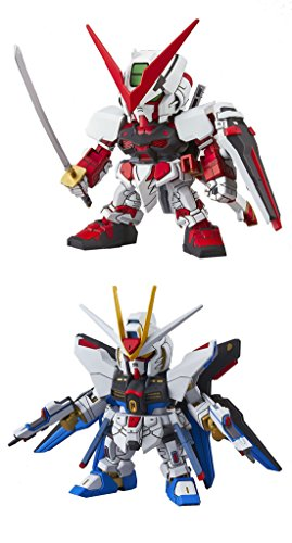 2 Bandai Hobby Gundam Assembly Models – Strike Freedom Gundam and MBF-P02 Astray Red Frame HG Gundam Seed – Bundled Set (Japan Import)