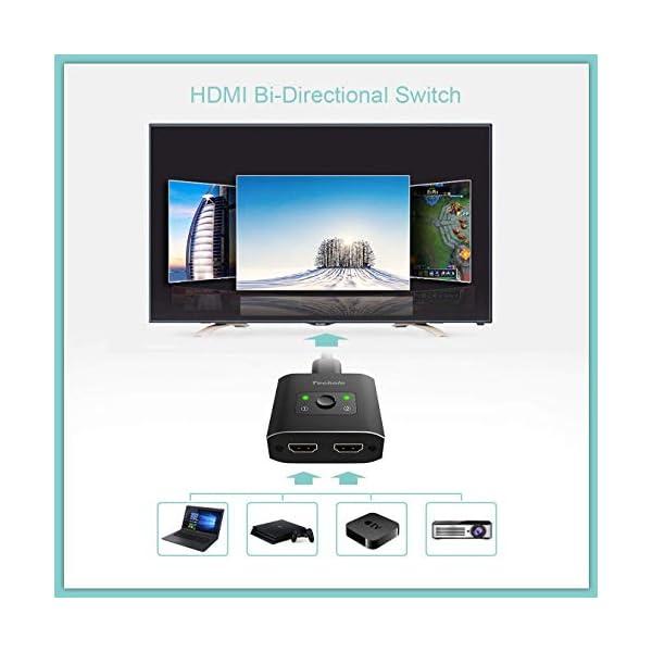 Techole HDMI Switch (Aggiornato), Alluminio Switch HDMI Bidirezionale 2 Ingressi 1 Uscita o 1 Ingresso 2 Uscite… 6 spesavip