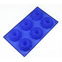 Allforhome 6 Cavities Donuts Silicone Cake Baking Mold Cake Pan Handmade Soap Moulds Biscuit Chocolate Ice Cube Tray DIY Mold