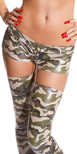 Gogo Hot Pants/TOP/09.1808Sirven En Army Look Talla Única para 34–�?8 Stella Army