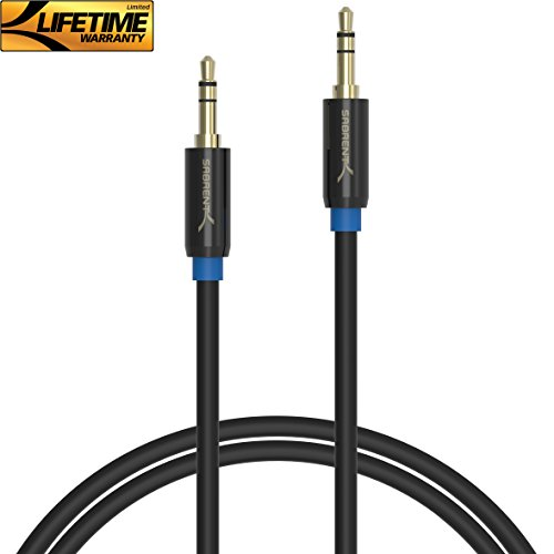 Sabrent 3.5mm Gold Plated Premium Auxiliary Male to Male AUX Cable [Step Down Design] 10 Feet (CB-AUX3)