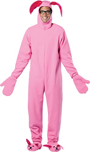 Rasta Imposta A Christmas Story Bunny Suit Costume, Pink, One Size (Enterprise Jumpsuit)