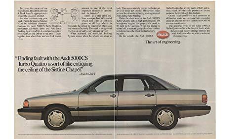 Magazine Print ad: 1986 Audi 5000 Series, 5000CS Turbo Quattro,