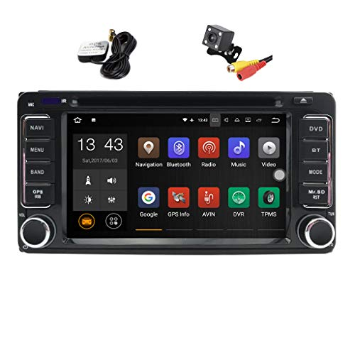 TOOPAI Android 7.1 Car Stereo Head Unit for Daihatsu Terios Wild 2006 2007 2008 2009 2010 2011 2012, with DVD Player, GPS Navigation, and Multimedia System