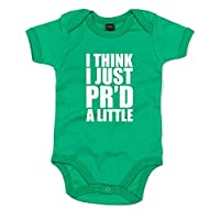 I Think I Just PR'd A Little, Printed Baby Grow - Kelly Green/White 3-6 Month...