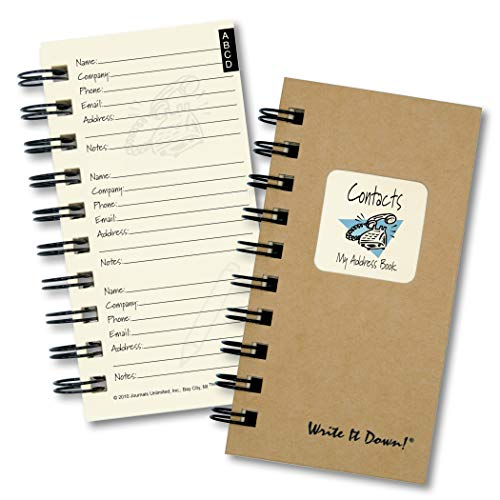 Who? What? Where? - My Address Book - MINI Kraft Hard Cover (prompts on every page, recycled paper, read more.)