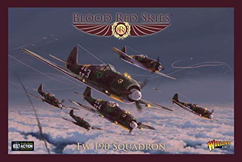 - Blood Red Skies Warlord Games, Fw 190 Squadron - Air Combat Game Miniatures
