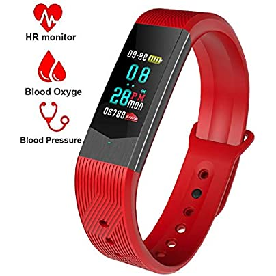 YAALO Smart Wristband Color Touch Screen Fitness Tracker Bluetooth Headset Heart Rate Monitor Wristband Bracelet Touch Screen Pedometer IP67 Sports Smart Watch Estimated Price £55.57 -