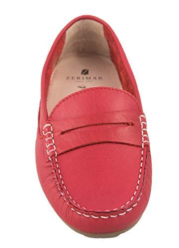 Rojo Piel Loafer Edwards Zerimar Mocasines Mujer Castellanos Mocasin De Agx78cZq
