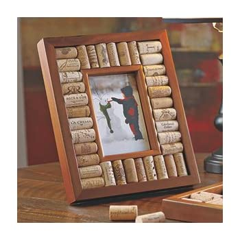 this item wine enthusiast wine cork picture frame kit 4 x 6